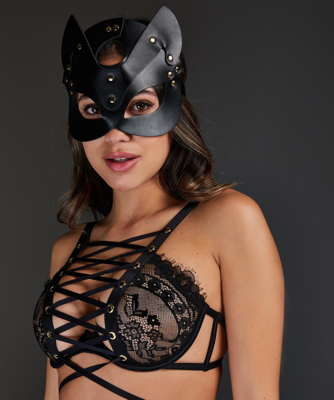Máscara de Gatito Private, Negro, main