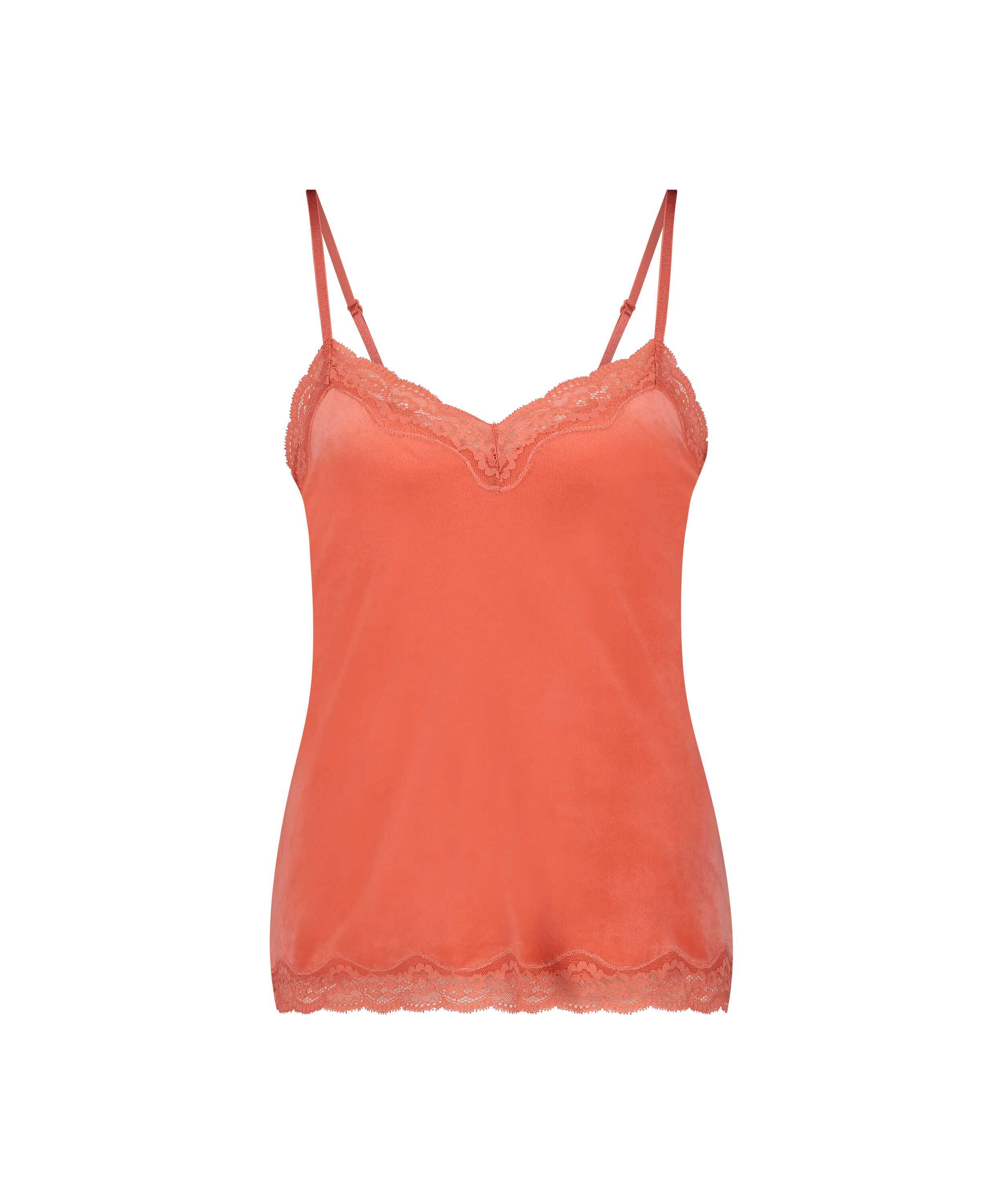 Camiseta Velours Lace, Naranja, main
