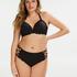 Top de bikini preformado Scallop Copa E +, Negro