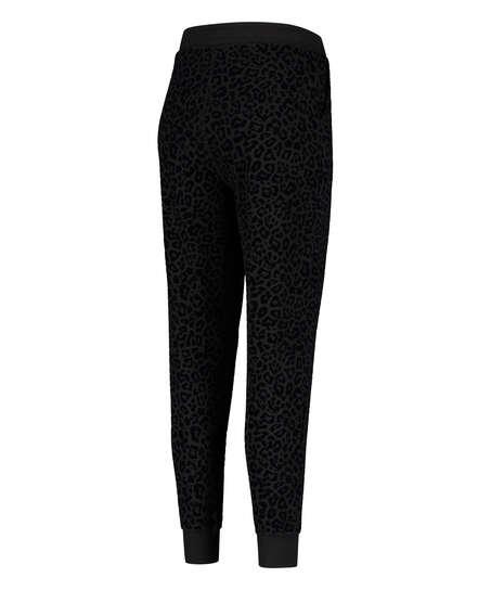 Pantalones de deporte HKMX Leopard, Negro