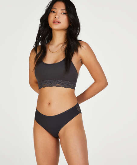 Brasileña Invisible Lace Back, Gris