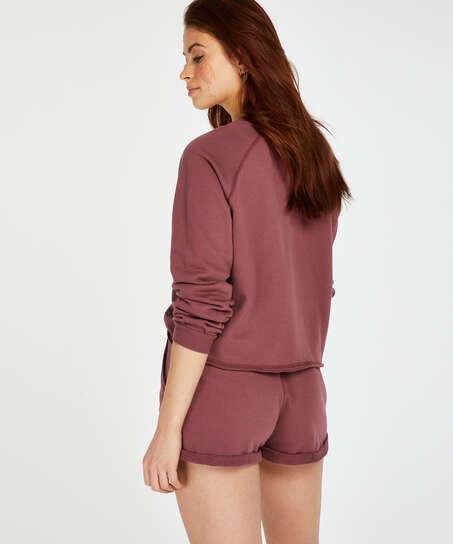 Shorts Sweat French, Rosa