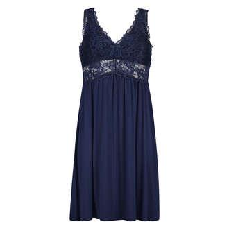 Vestido combinación Modal Lace, Azul