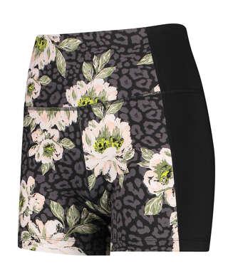 HKMX Pantalón corto de cintura alta Bloom de la colección, Negro