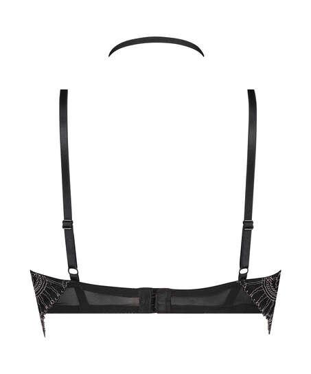 Sujetador longline de aros preformado Coco, Negro