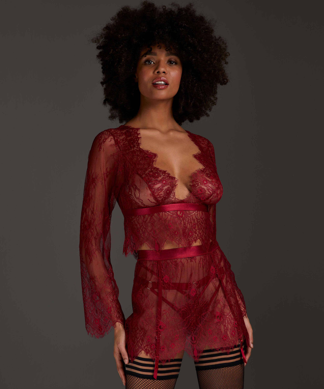 Falda de encaje, Rojo, main