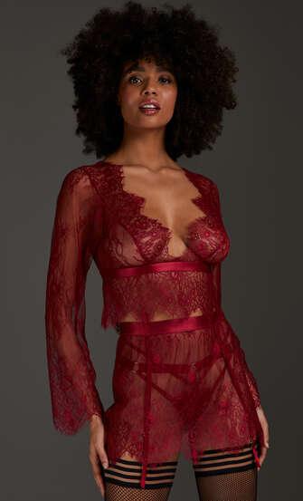 Falda de encaje, Rojo
