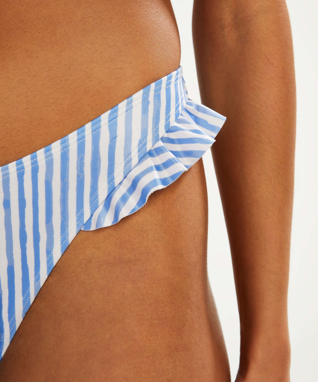 Braguita de bikini de corte alto Julia, Azul, main