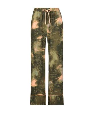 Pantalón de pijama tejido, Verde