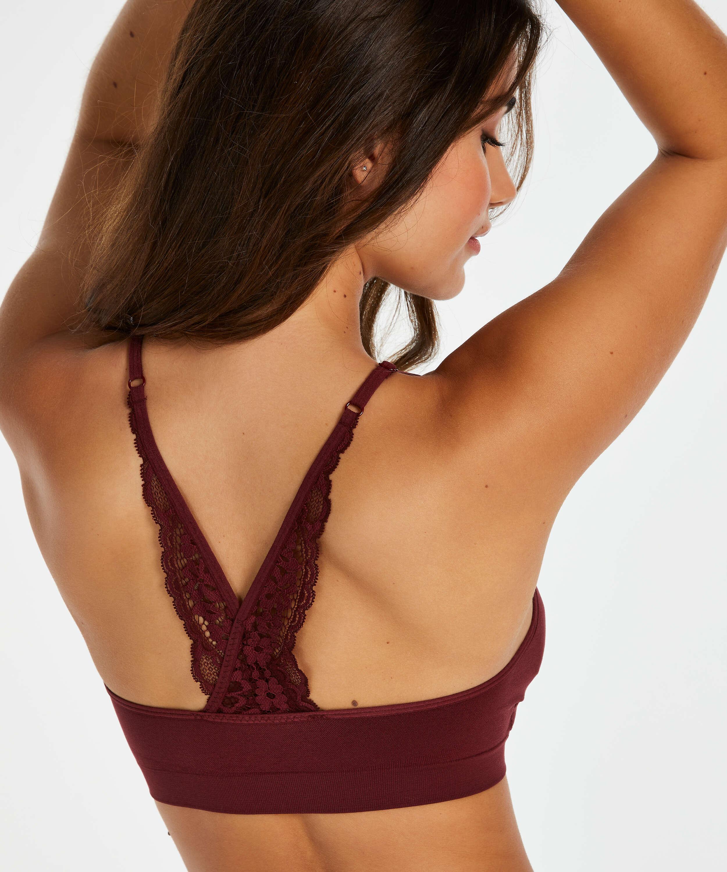Bralette sin costuras Rose, Rojo, main