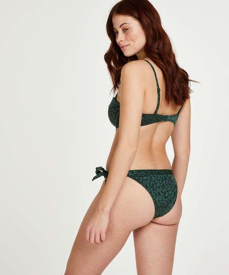 Top de bikini push-up con aros y preformado Copa A - E, Verde
