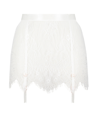 Falda de encaje, Blanco