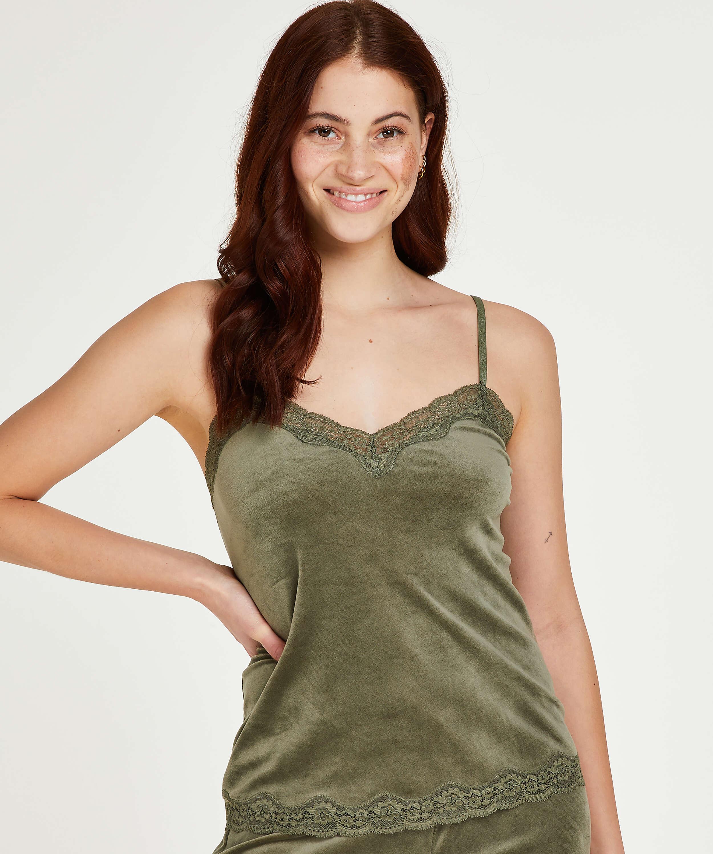 Camiseta Velours Lace, Verde, main