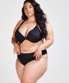 Braguita de bikini con pliegues Sunset Dream, Negro