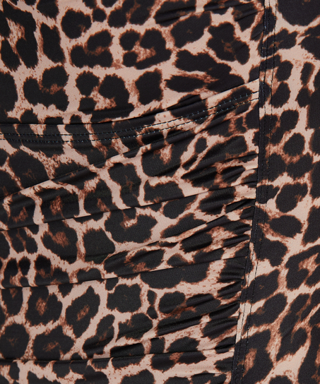 Traje de baño Leopard, Beige