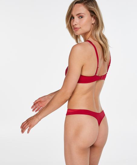Tanga Satin fleece, Rojo