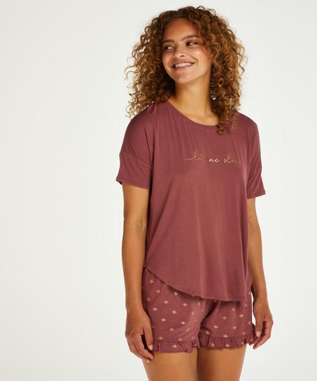 Conjunto de pijama corto, Rosa