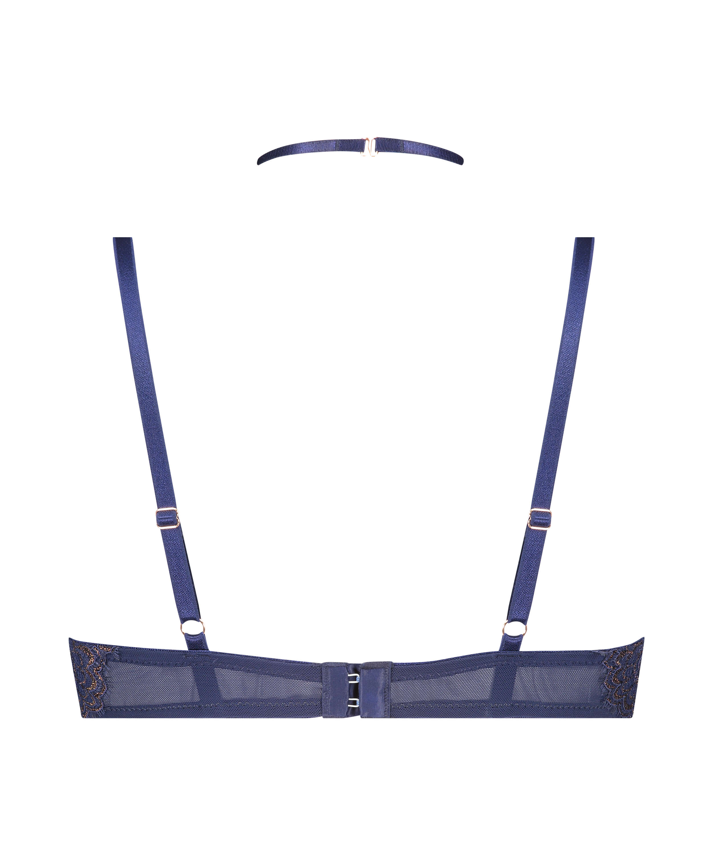 Sujetador longline de aros preformado Rya, Azul, main