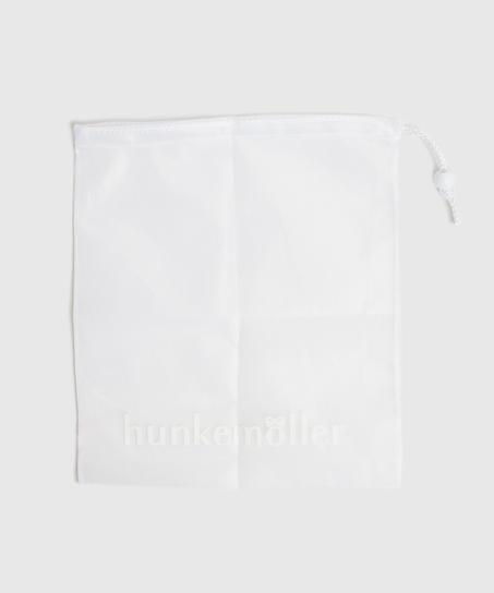 Bolsa para el lavado prendas delicadas cordón, Blanco