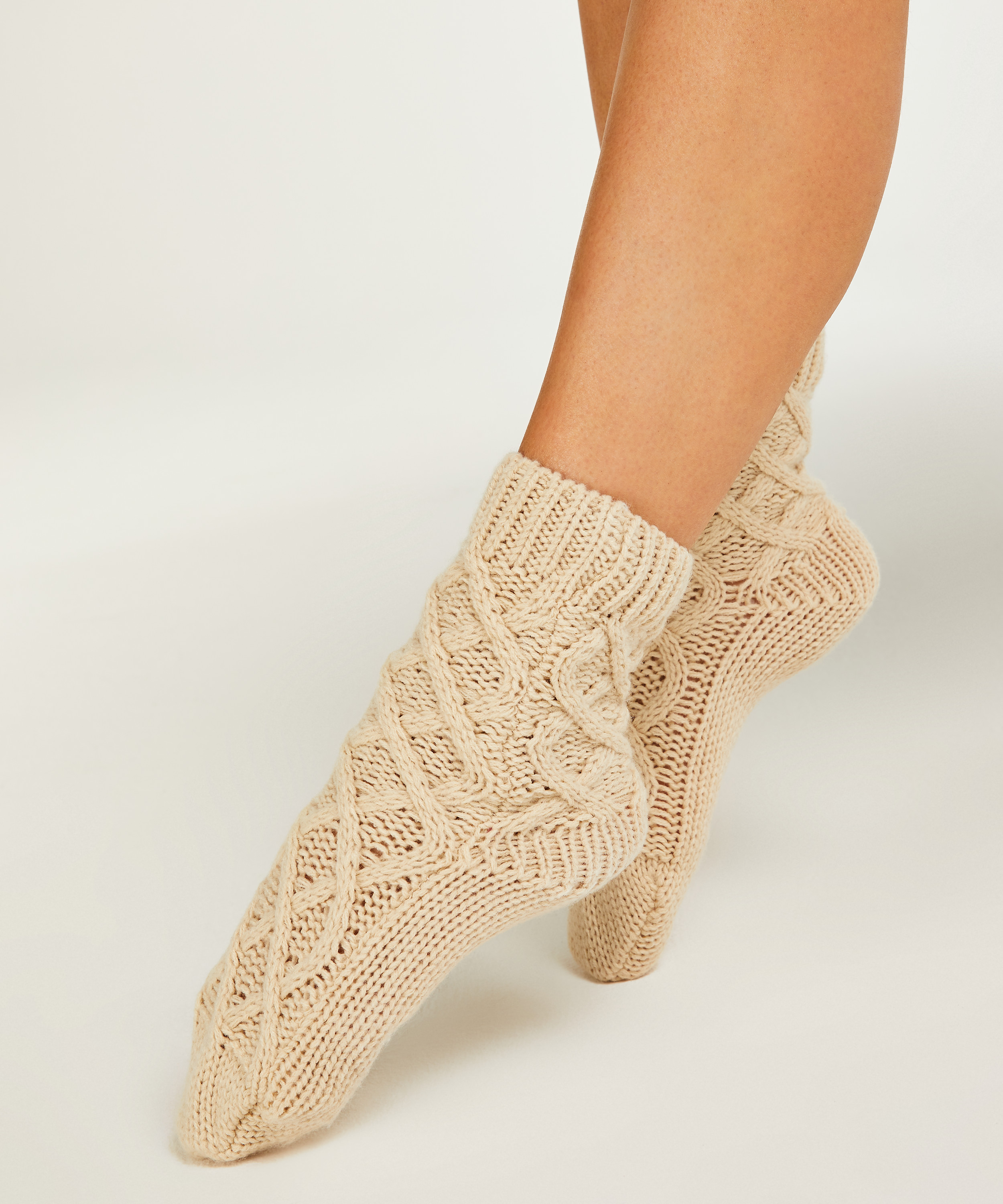 Calcetines Knit, Beige, main