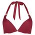 Top de bikini de aros preformado Golden Rings, Rojo