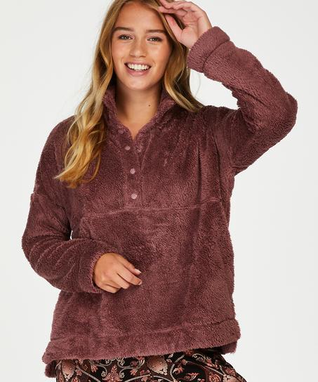 Cárdigan Snuggle Fleece, Rosa